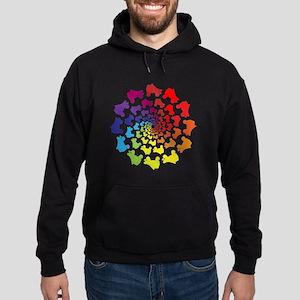 rainbow circle skate Hoodie