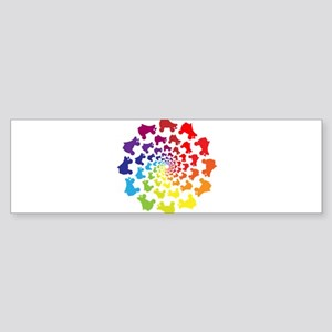 rainbow circle skate Bumper Sticker