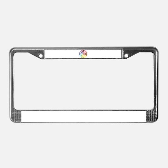 rainbow circle skate License Plate Frame
