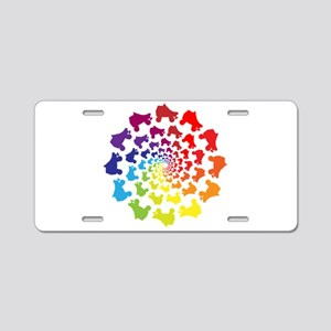 rainbow circle skate Aluminum License Plate