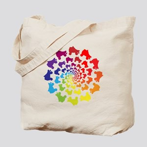 rainbow circle skate Tote Bag