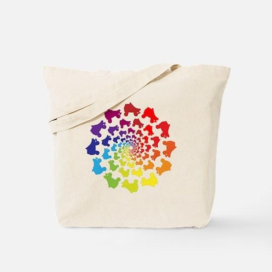 rainbow circle skate Tote Bag