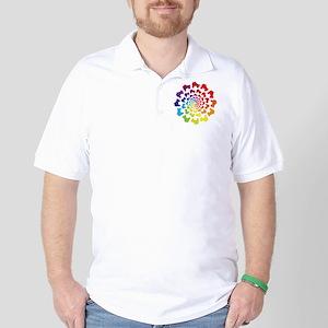 rainbow circle skate Golf Shirt