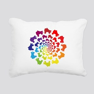 rainbow circle skate Rectangular Canvas Pillow