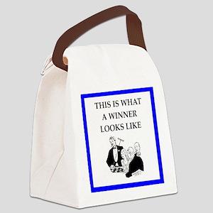 roulette Canvas Lunch Bag