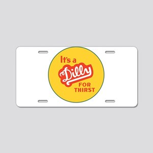 Dilly Soda 1 Aluminum License Plate