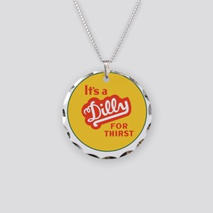 Dilly Soda 1 Necklace Circle Charm