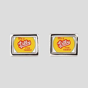 Dilly Soda 1 Rectangular Cufflinks