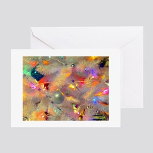 Jazzy neon tree Greeting Cards