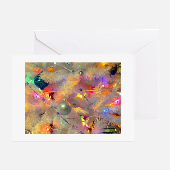 Jazzy neon tree Greeting Cards