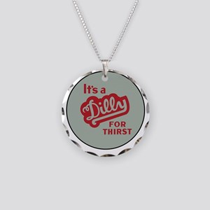 Dilly Soda 2 Necklace Circle Charm