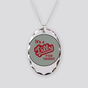 Dilly Soda 2 Necklace Oval Charm