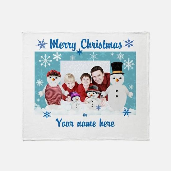 Snowman Christmas Throw Blanket