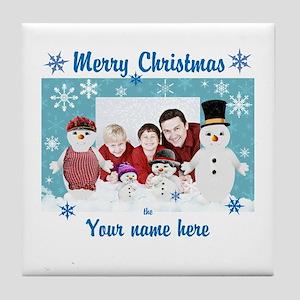 Snowman Christmas Tile Coaster