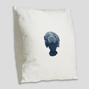CURIOUS Burlap Throw Pillow