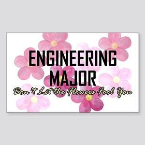 Engineer's Flower Power Sticker