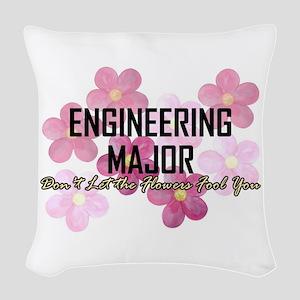 Engineer's Flower Power Woven Throw Pillow