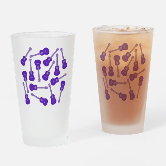 Purple Ukulele Drinking Glass