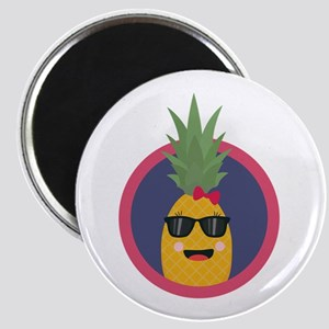 Cool pineapple with sunglasses Magnets