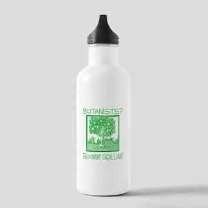 Bloomin Brilliant Botanists Green Water Bottle