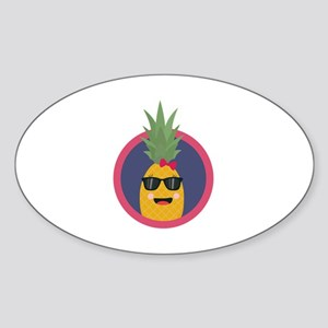 Cool pineapple with sunglasses Sticker