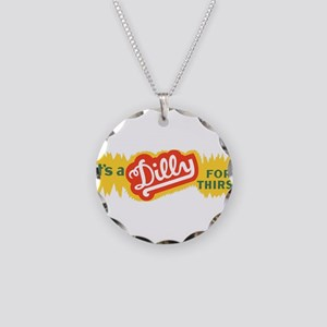 Dilly Soda 4 Necklace Circle Charm
