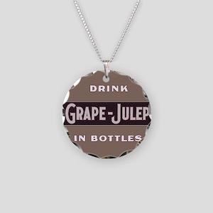 Grape Julep Soda 11 Necklace Circle Charm
