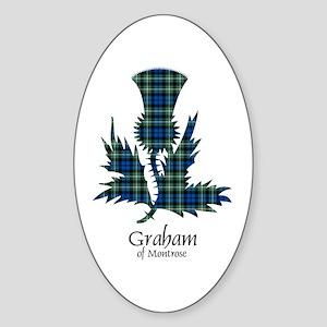 Thistle - Graham of Montrose Sticker (Oval)