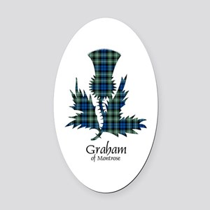 Thistle - Graham of Montrose Oval Car Magnet