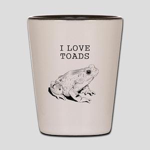 I Love Toads Shot Glass