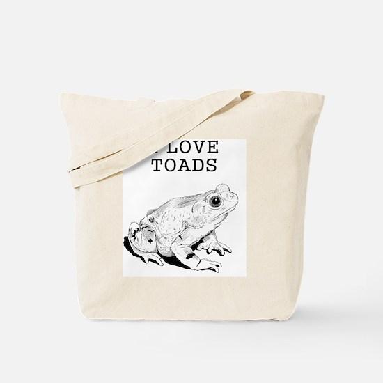I Love Toads Tote Bag
