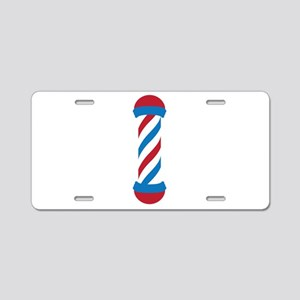 barber pole Aluminum License Plate