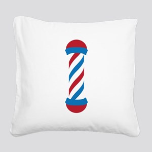 barber pole Square Canvas Pillow