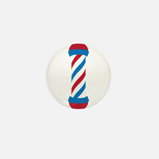 barber pole Mini Button