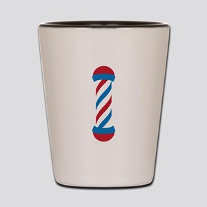 barber pole Shot Glass