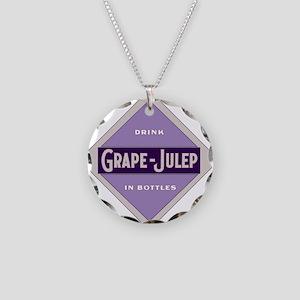 Grape Julep Soda 22 Necklace Circle Charm