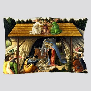 Mystical Nativity Botticelli Pillow Case