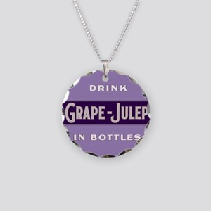 Grape Julep Soda 12 Necklace Circle Charm