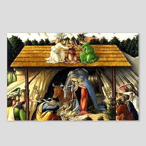 Mystical Nativity Bottice Postcards (Package of 8)