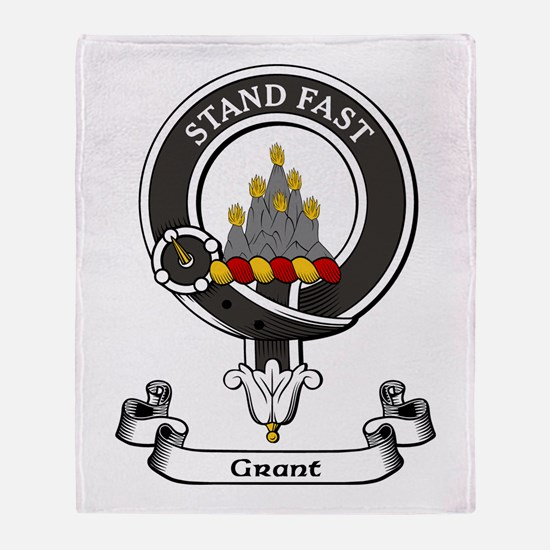 Badge - Grant Throw Blanket