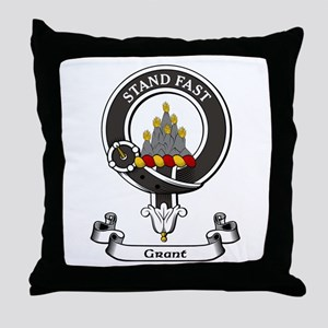 Badge - Grant Throw Pillow