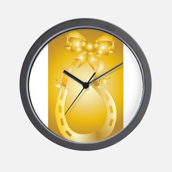 Golden Wedding Aniversary Wall Clock