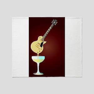 Guitar Wine Throw Blanket