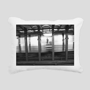 New York Subway Ghost Rectangular Canvas Pillow