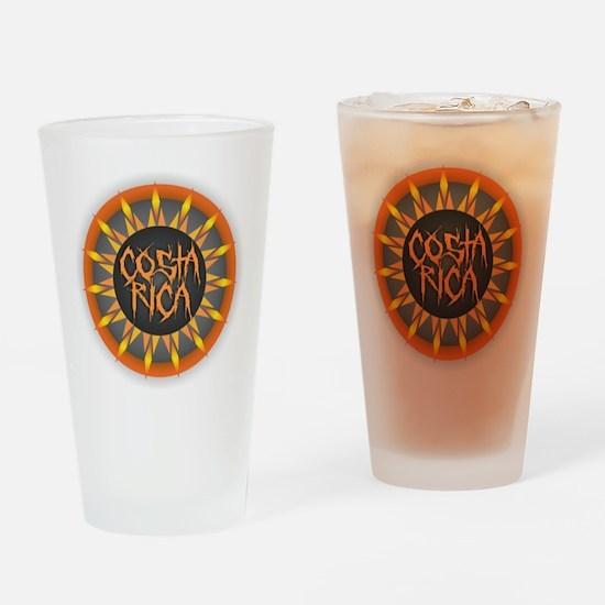 Costa Rica Hot Sun Drinking Glass