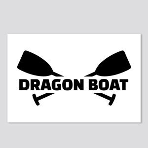 Dragon boat paddles Postcards (Package of 8)