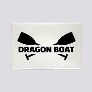 Dragon boat paddles Rectangle Magnet