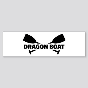 Dragon boat paddles Sticker (Bumper)