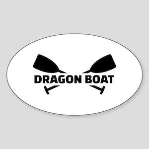 Dragon boat paddles Sticker (Oval)