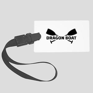 Dragon boat paddles Large Luggage Tag